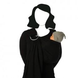 BB Sling karikás hordozókendő - Black Beans, fekete