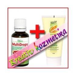 Multivitaminos arcpakolás (* Herba Gold Aktív Balzsam 75 ml + * MultiDrops)
